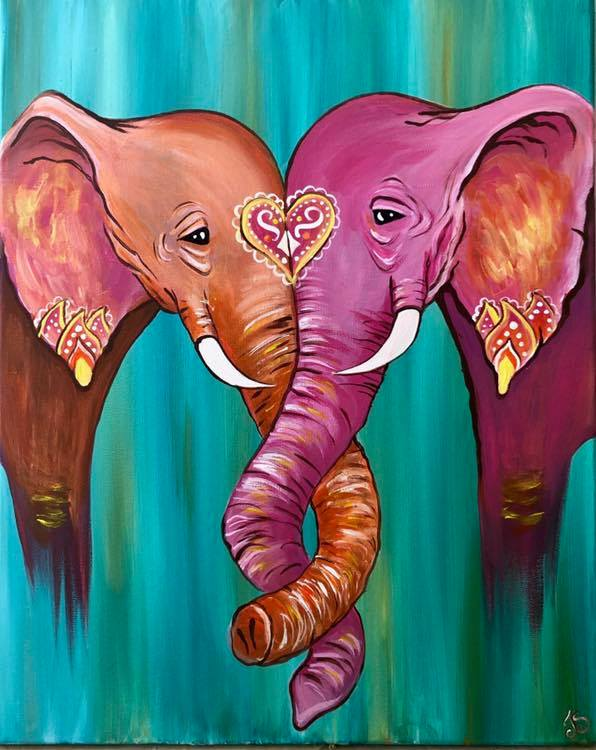 Laurieann Elephant Sip & Paint - Ecocreations